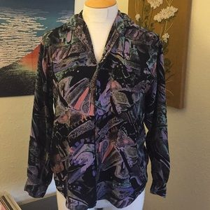 Fun ZOOM button up vintage long sleeve M